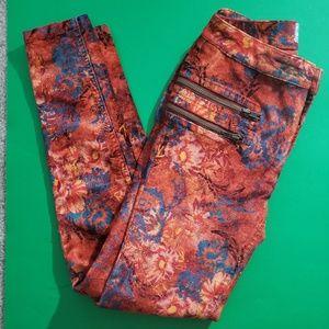 Free People Velvet Moto Lennon Skinny Boho Jeans 2